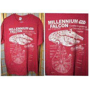 Vintage Star Wars tee-shirt L millenium falcon